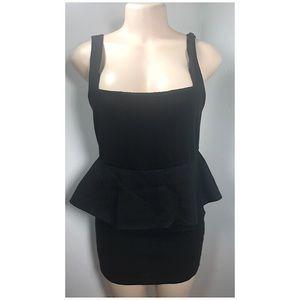 ALICE + OLIVIA Black Peplum Dress Size 12